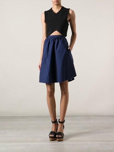 carven skirt blue skirt