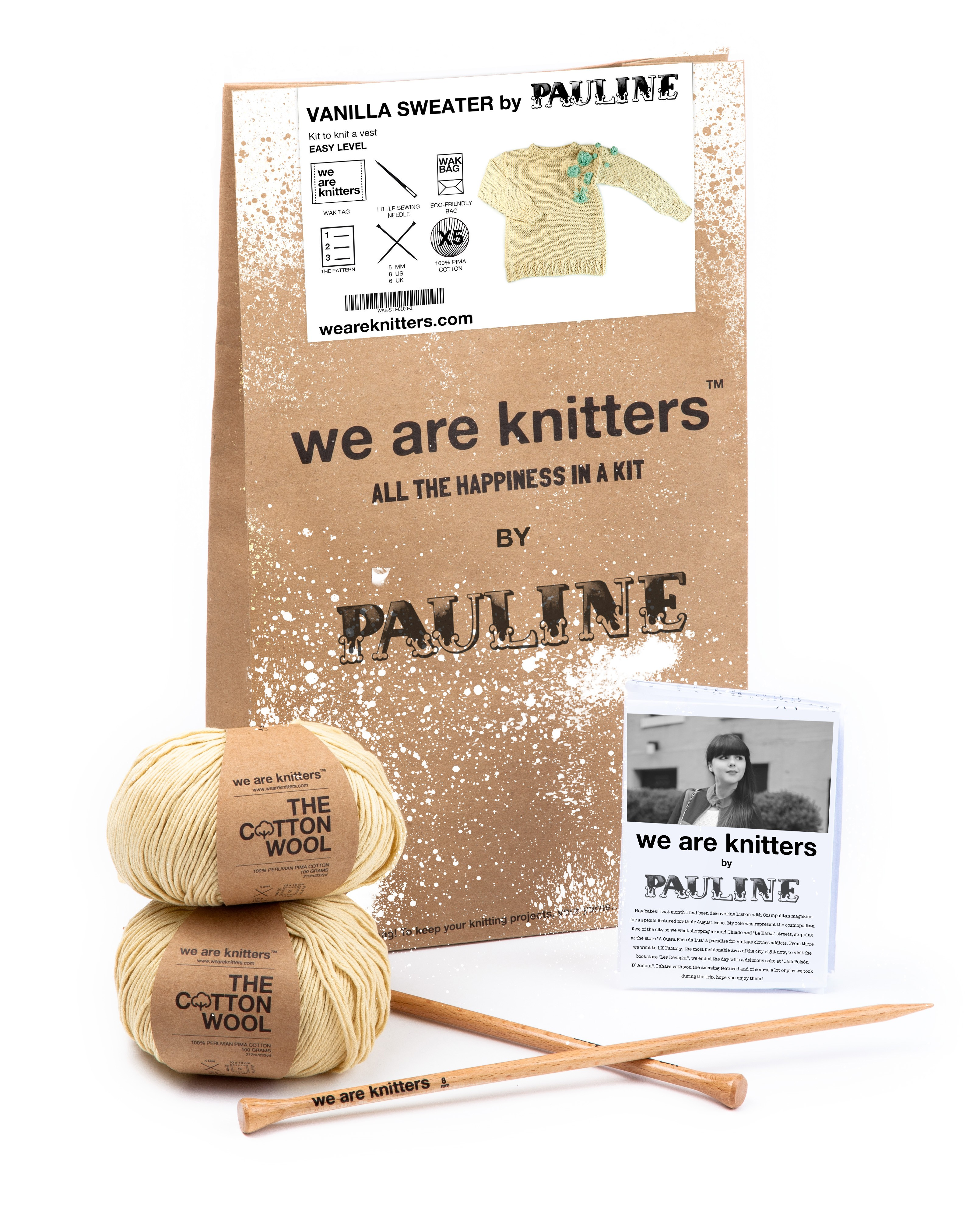 knitting kits pauline fashion sweater we are knitters. Black Bedroom Furniture Sets. Home Design Ideas