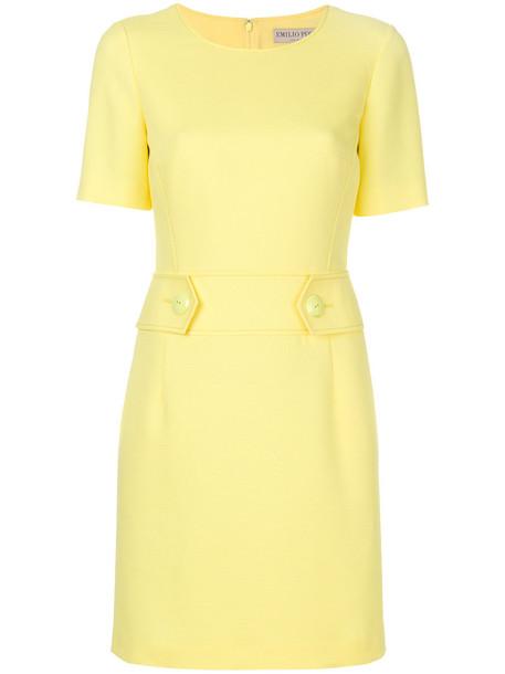 dress shift dress mini women cotton silk yellow orange