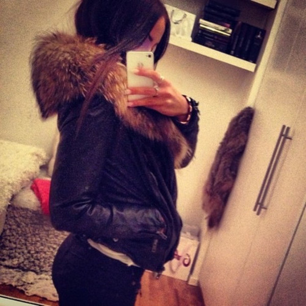 jacket fur black leather leather black leather jacket
