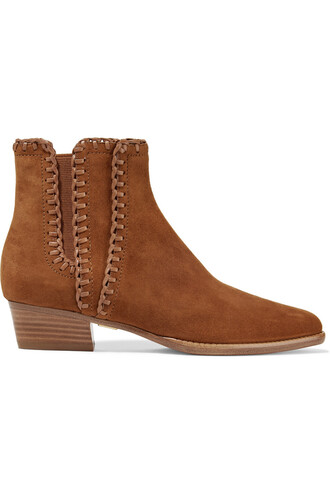 suede ankle boots boots ankle boots suede light brown shoes