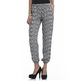 Sofia by Sofia Vergara Women's Woven Bohemian Trousers - Clothing, Shoes & Jewelry - Women's - Women's Clothing - Women's Pants & Leggings - Women's Pants - Women's Regular Pants