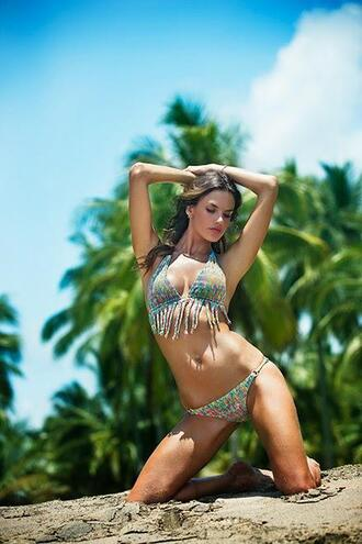 swimwear bikini top bikini bikini bottoms alessandra ambrosio summer