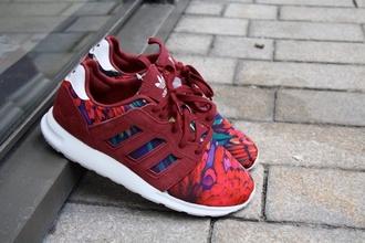shoes adidas red shoes original print