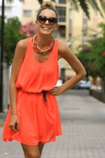 orange dress dress red dress summer coral dress debs dress