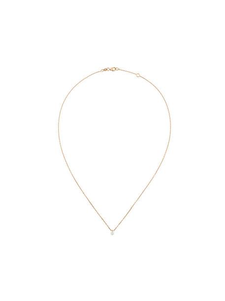 Sarlane rose gold rose women necklace pendant gold grey metallic jewels