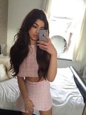 skirt,nail accessories,dress,pink,cute dress,crop tops