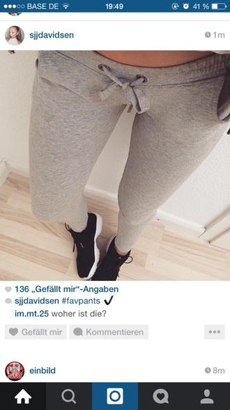 pants jogging sportswear grey joggingpants