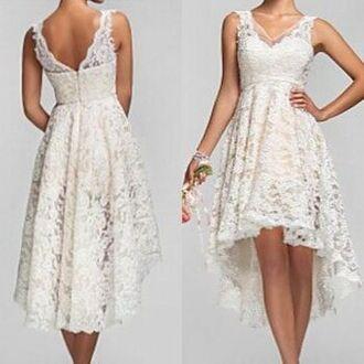 dress vintage lace v neck high low dress vintage lace formal dress beautiful