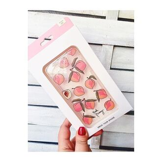 phone cover yeah bunny peach fruits iphone case iphone cover cute transparent
