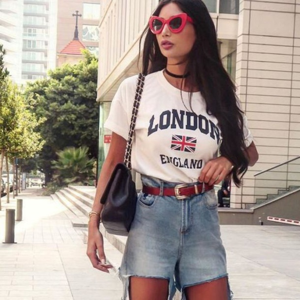t-shirt graphic tee blouse love t-shirt graphic london england's flag t-shirt top graphic shirt london england american flag england flag teenagers blogger tumblr outfit blogger style nice