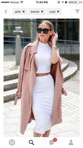 coat pink trench coat trench coat for women pink coat
