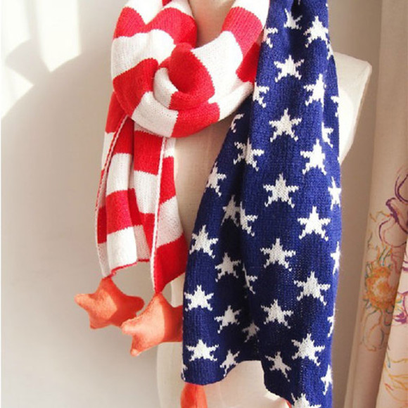 flag scarf fashion