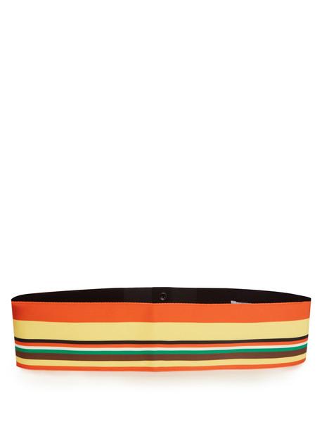 DIANE VON FURSTENBERG Striped ribbon belt in orange / multi