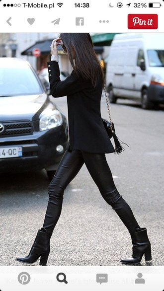 shoes black kendall jenner ankle boots keeping up with the kardashians