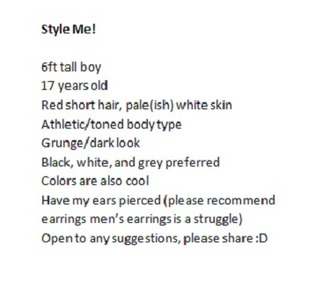 pants boy grunge dark earrings gingerhair