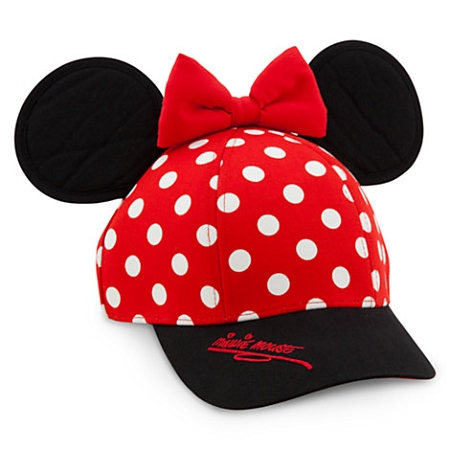 Disney Hat - Baseball Cap for Girls - Minnie Mouse Ears with Bow f0eca31dbbd
