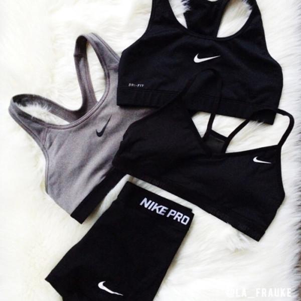 underwear nike adidas cartier tumblr cute clothes crop tops workout fitness shorts nike bra sportswear sneakers love nike pro shorts sports bra