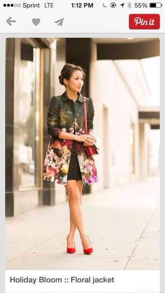floral print jacket coat