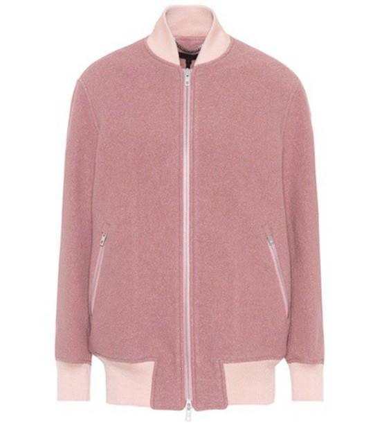 Rag & Bone jacket bomber jacket wool pink
