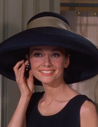 hat audrey hepburn breakfast at tiffany's big hat