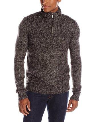 sweater winter sweater quarterzip pullover mens sweater