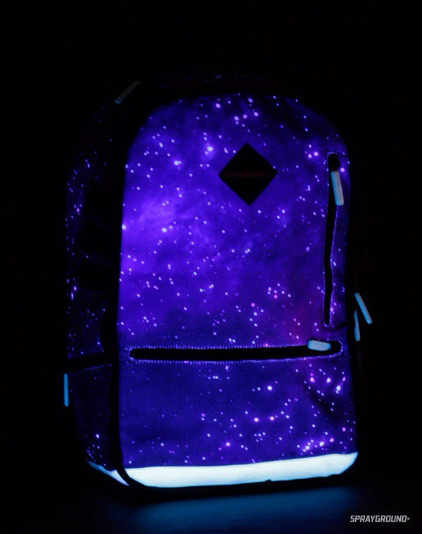 bag glow in the dark backpack yeah galaxy print