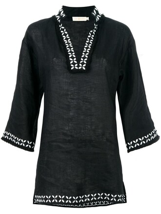 top tunic women black