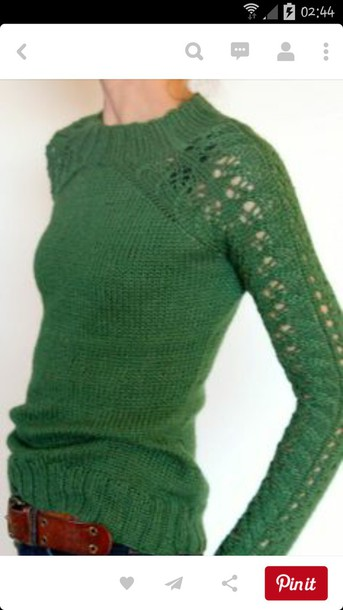 sweater green sweater