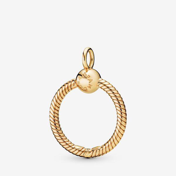 Pandora Moments Small O Pendant Charm | Gold | 368296