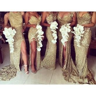 dress gold dress gold sequins