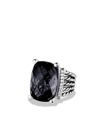 David Yurman Wheaton Ring with Black Onyx and Diamonds - Neiman Marcus