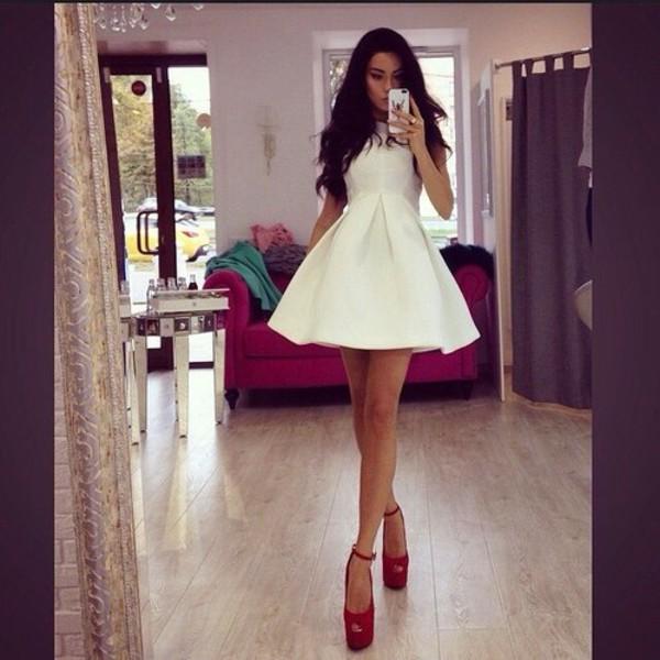 white dress short dress sexy dress dress hat
