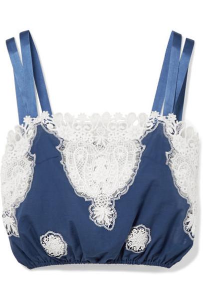 Miguelina top cotton blue