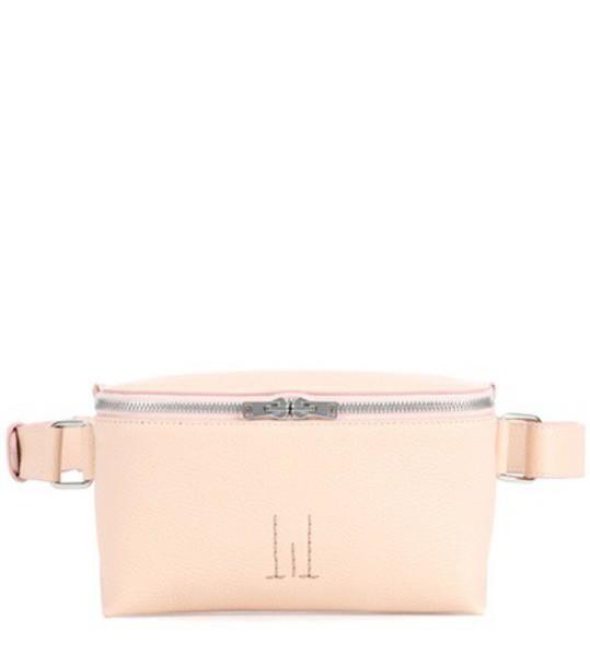 belt bag bag leather pink