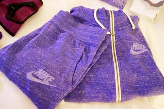 jumpsuit nike purple hoodie trouser jacket pants