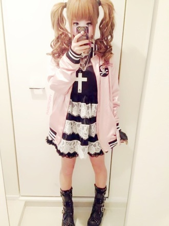 jacket pink cute sweater skull kawaii jewels shorts