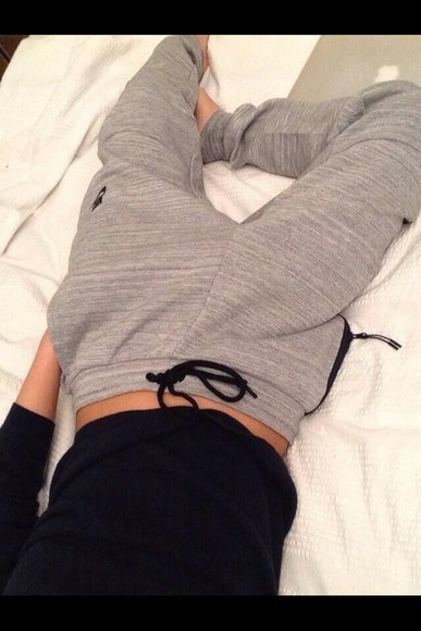 pants grey sweatpants nike grey