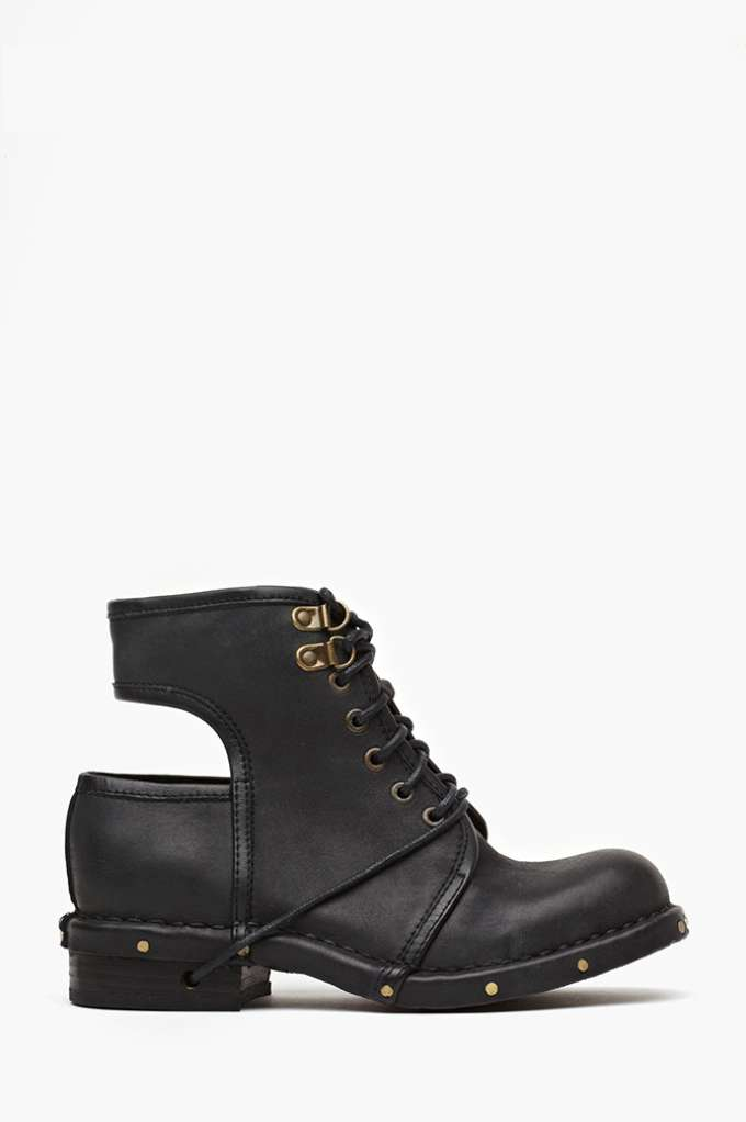 Jeffrey Campbell Rosie Cutout Combat Boot in  Shoes Boots at Nasty Gal