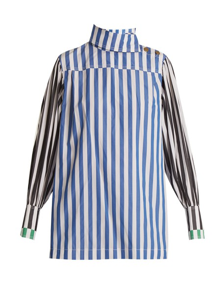 Sonia Rykiel shirt high cotton blue top