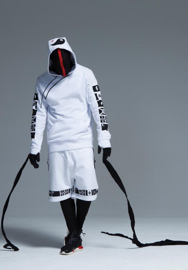 Jacket White Black Shoes Goth Ninja Hoodie Shorts