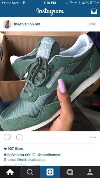 shoes reebok green