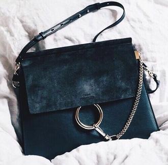 bag black chloe classy luxury