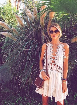 dress crochet rosie huntington-whiteley boho dress boho chic bohemian