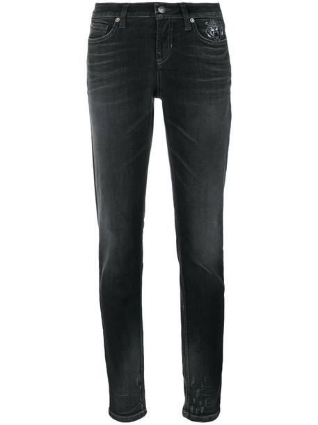 Cambio - tiger pocket detail jeans - women - Cotton/Polyester/Spandex/Elastane - 34, Grey, Cotton/Polyester/Spandex/Elastane