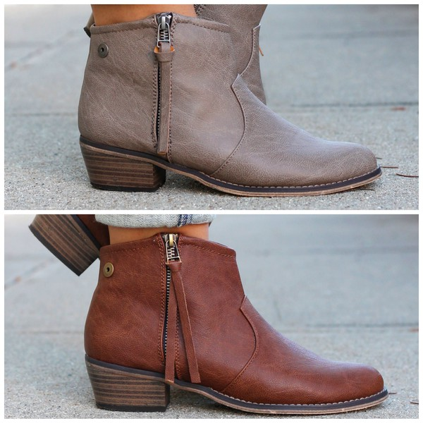 shoes bootie fall outfits taupe