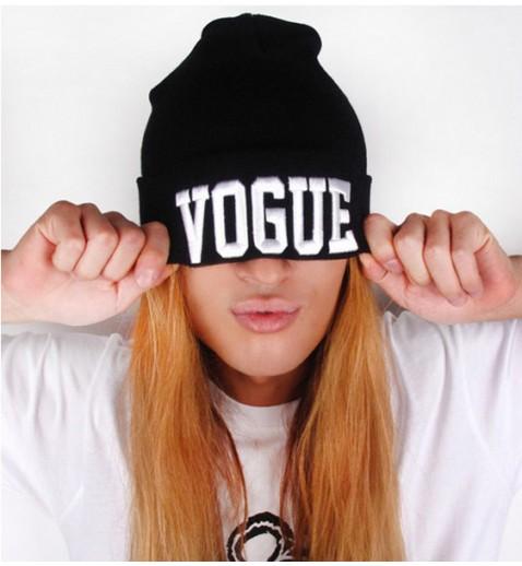 Vogue Black Beanie - Hats - Accessories