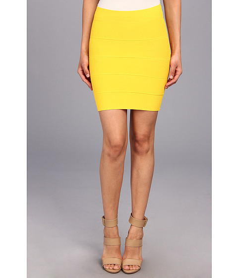 Perfect Value!! Bcbgmaxazria Simone Bandage Skirt Bright Sunflower Prices | Clothing Check Out Stores