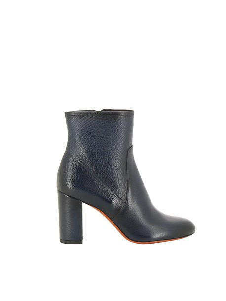 Santoni heel chunky heel ankle boots blue shoes