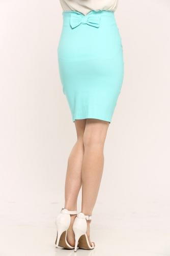 Bow pencil skirt